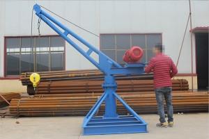 室外吊运机安装图-1吨自制吊机生产厂家-东弘起重