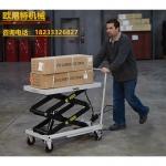 供應500KG手推平臺車 小型可移動液壓搬運平臺車