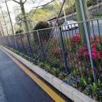 深圳道路柵欄規格 公路中間港式護欄 人行道深標欄桿圖片