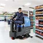 停车场塑胶地面用洗地机|容恩驾驶式洗地机R-QQ