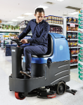 容恩驾驶式洗地机R-QQ,汽车展厅地下车库用洗地机