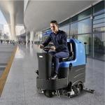 机场候车室飞机跑道用洗地机,容恩驾驶式洗扫一体机R125BT