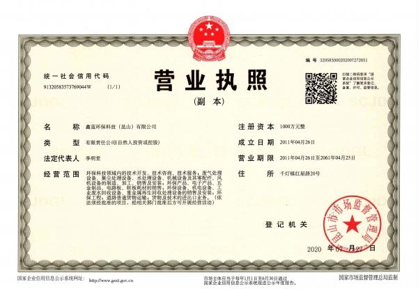 鑫藍環保精彩亮相2020中國環博會