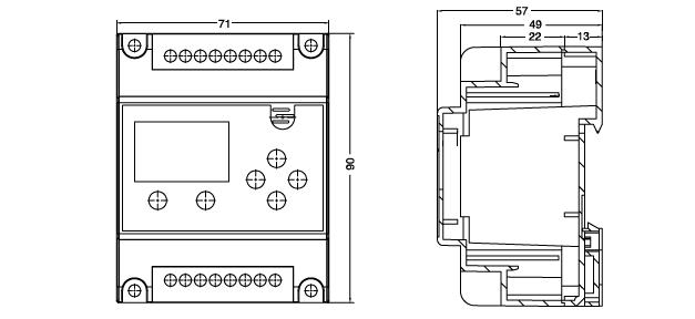 TX800-DF剩余电流式电气火灾监控探测器外形尺寸