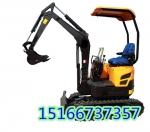 16型橡胶履带挖坑机 小型沟槽植树挖掘机 浩鸿厂家直供