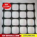 pp阻燃土工格栅 聚丙烯塑料拉伸网 黑色塑料方孔网 土工格栅