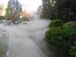 广场夏季降温喷雾