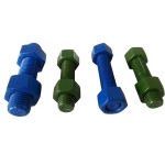 ASTM A320 PTFE 涂藍防腐蝕螺柱組合件