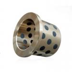 旭升法蘭石墨銅套 無油襯套 自潤滑軸承 雙金屬直線軸承 法蘭