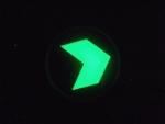 圆形夜光钢化玻璃地贴,安全出口标志,发光消防标志,高亮发光粉