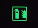 灭火器标志牌,消防器材标识,丝网印刷专用发光颜料