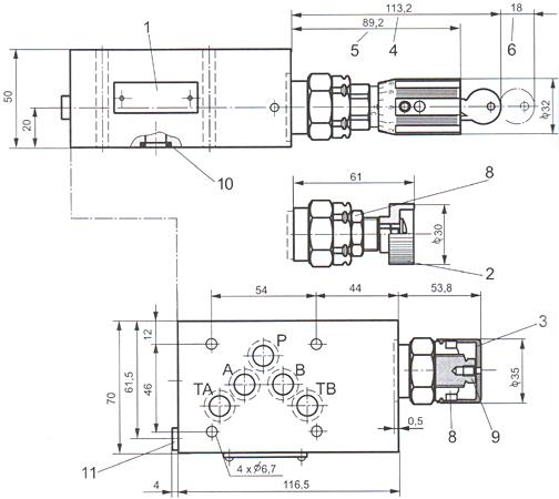 四川成都梓瑞液压zdr型折叠加式减压阀价格实惠图片