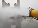 四川建筑工地降塵噴霧機=工地降塵設備=降塵霧炮機