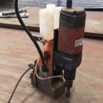 橘黃色磁力鉆DX-35手提式電磁鉆鋼板取芯打孔機