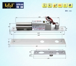 LCJ力士堅電插鎖EC235-1電鎖電控鎖