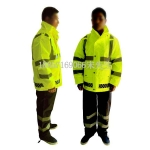 反光雨衣,执勤发光雨衣,安全雨衣,分体式反光雨衣