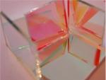 分光片 45度入射 反50%透50% 光学玻璃材质镀膜镜片