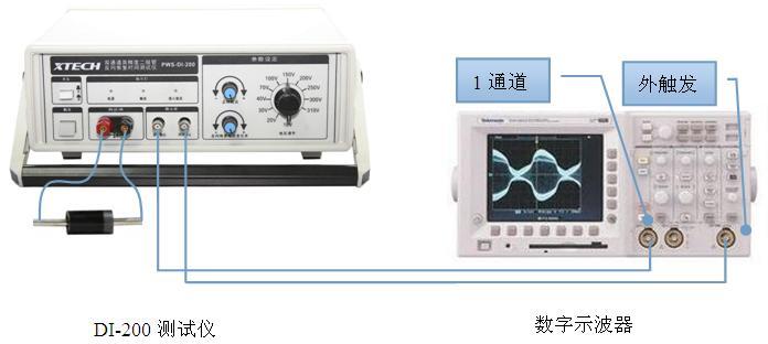 示波器示意�_di-200测试仪器和示波器连接示意图