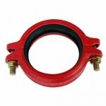 沟槽消防管件强力卡箍 龙成玛钢镀锌管件 厂家直销