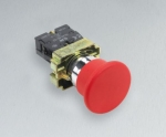 包邮正品XB2BC42C施耐德红色蘑菇头按钮开关