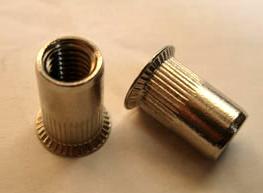 瑞安大乾元M3-12小头条纹不锈钢拉铆螺母