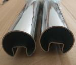 管厂销售201不锈钢凹槽扁通圆管Φ50.8单槽20*20