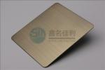 香槟金彩色不锈钢拉丝板加工  304不锈钢拉丝装饰板